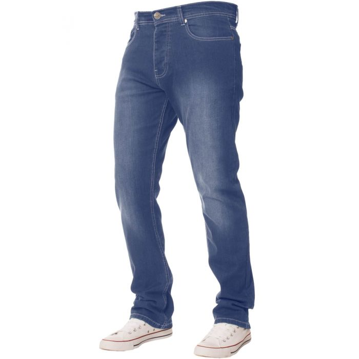 Image for Mens  Regular Fit Stretch Denim Jeans | Enzo Designer Menswear