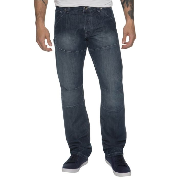 Image for Mens Midwash Straight Fit Denim Jeans EZ243 | Enzo Designer Menswear
