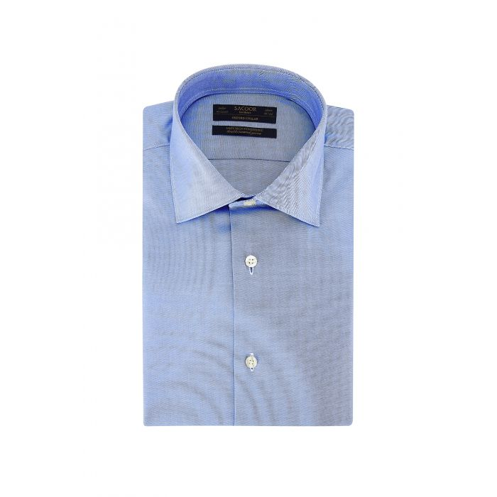 Image for Blue pure cotton classic regular fit shirt