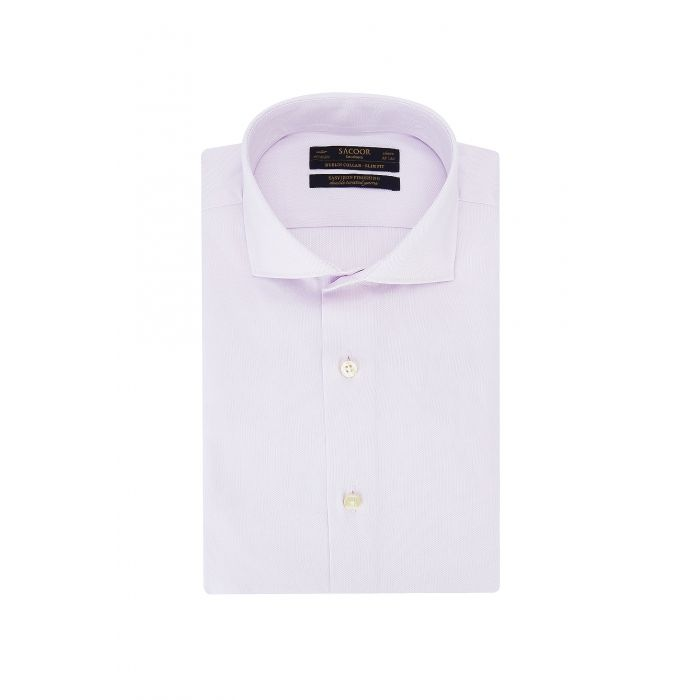 Image for Pink pure cotton classic slim fit shirt