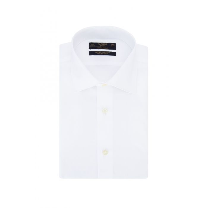 Image for White pure cotton classic regular fit shirt