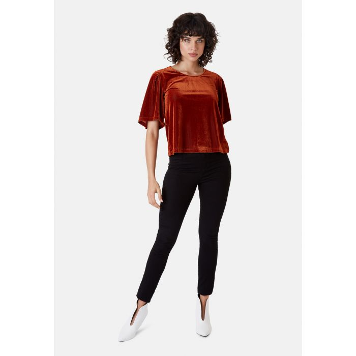 Image for Whisper Short Sleeve Top in Rust Brown