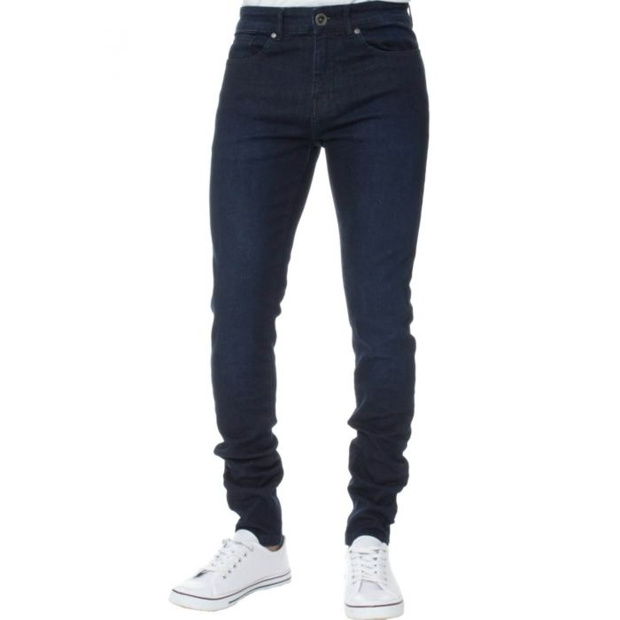 Image for Dark blue super skinny stretch jeans