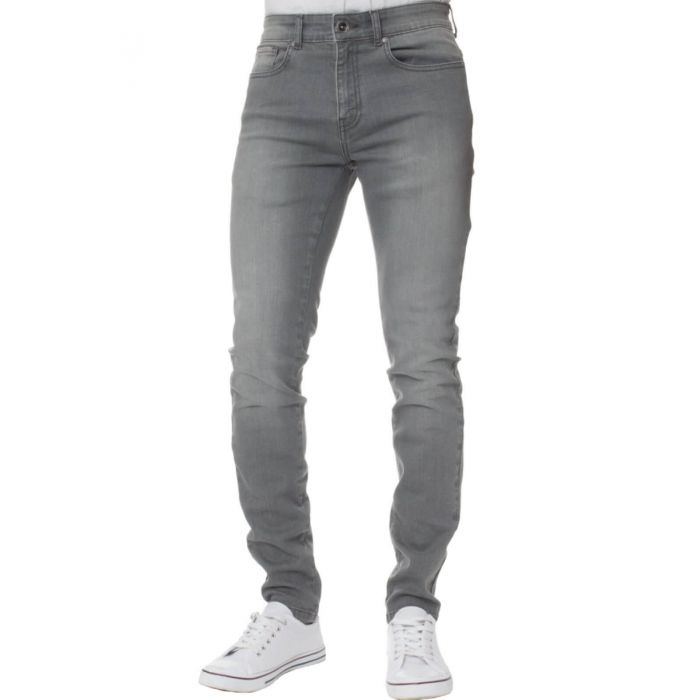 Image for Grey super skinny stretch jeans