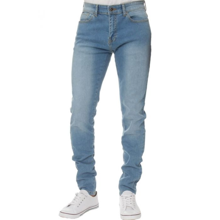 Image for Light blue super skinny stretch jeans