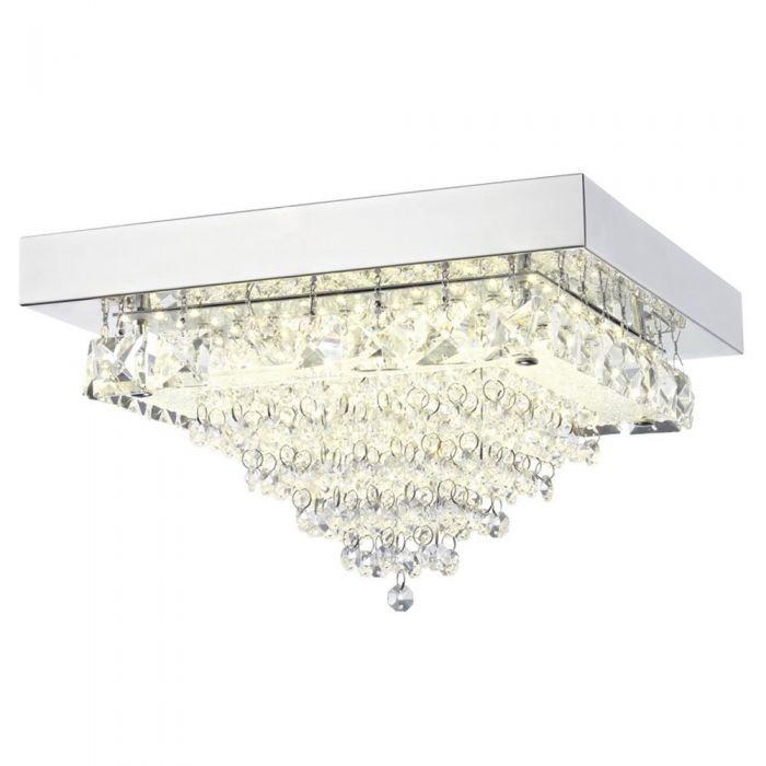 Image for Auden LED Small Square Semi-Flush Ceiling Light