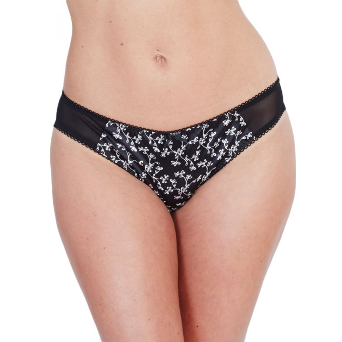 Image for Floral Satin Brief