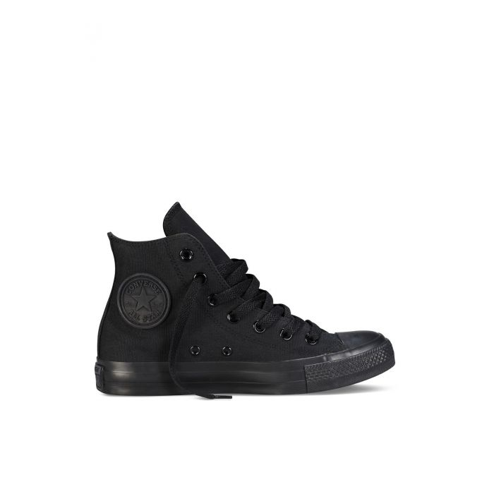 Image for All Star Chuck Taylor black monochrome hi-top trainers
