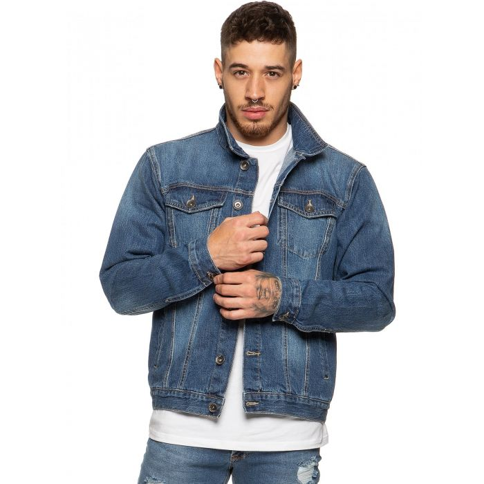 Image for Mens Enzo Denim Designer Jacket - MSW   Enzo Designer Menswear