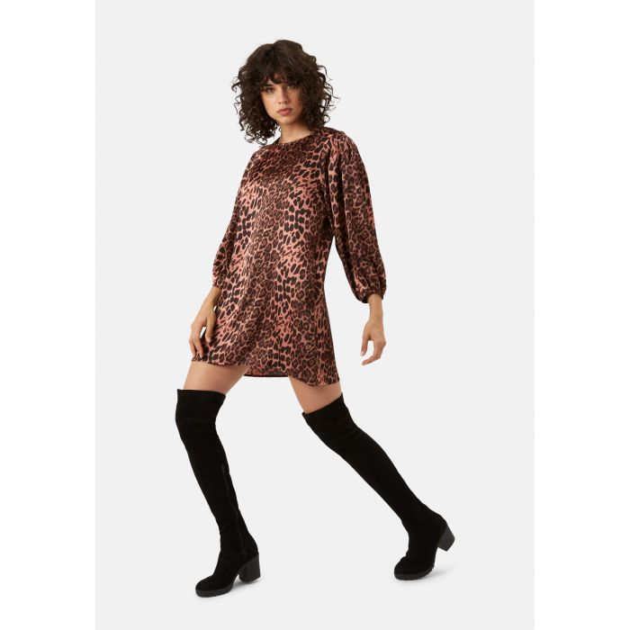 Image for Please Me Mini Animal Print Dress in Pink