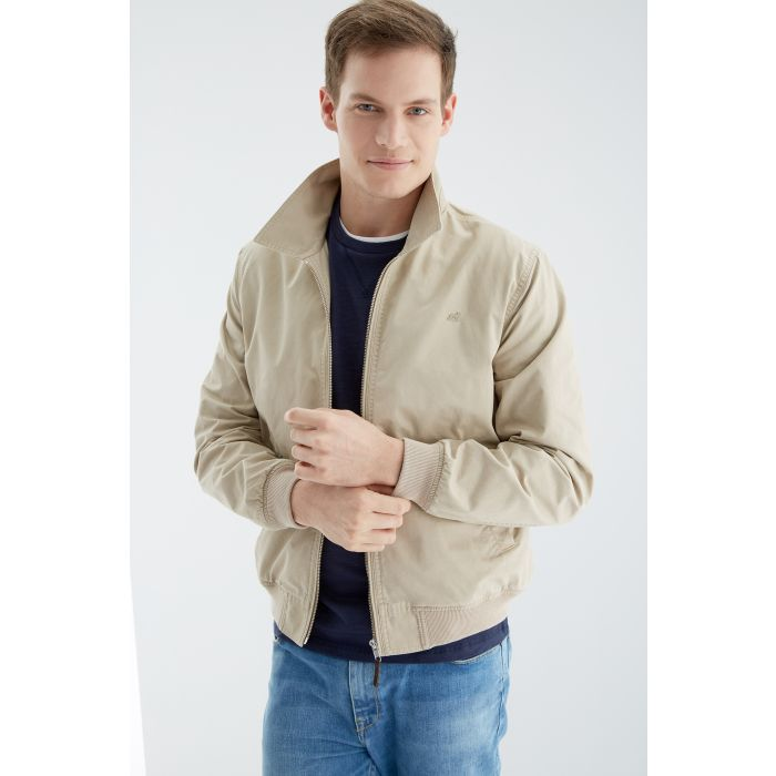 Image for Beige pure cotton jacket