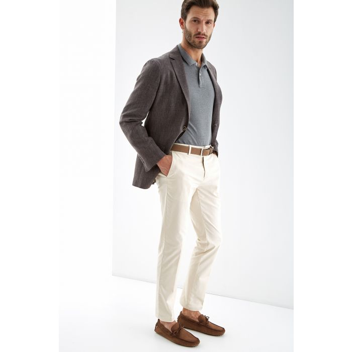 Image for Mens brown pure linen slim fit blazer