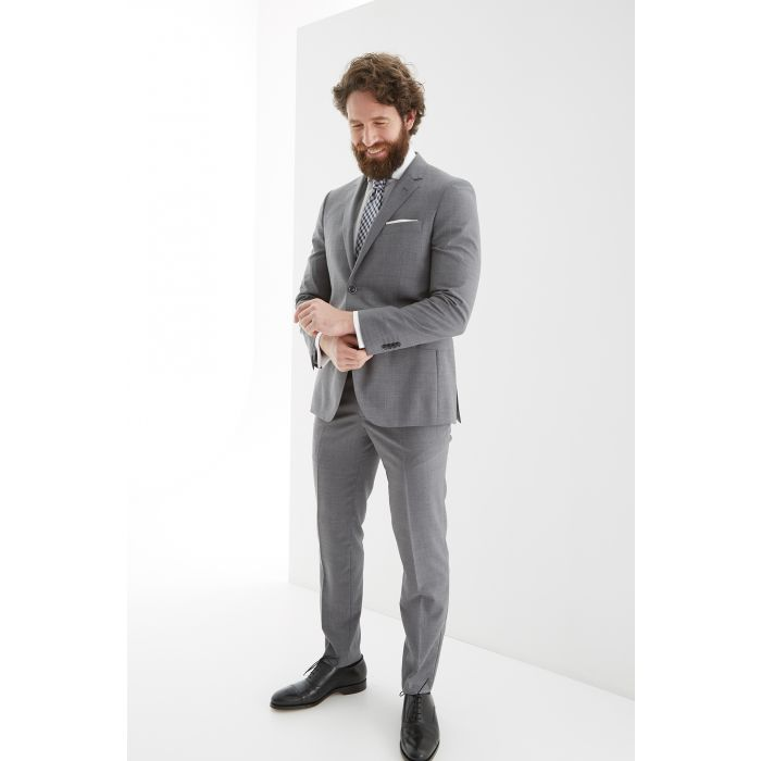 Image for Mens grey pure wool slim fit suit
