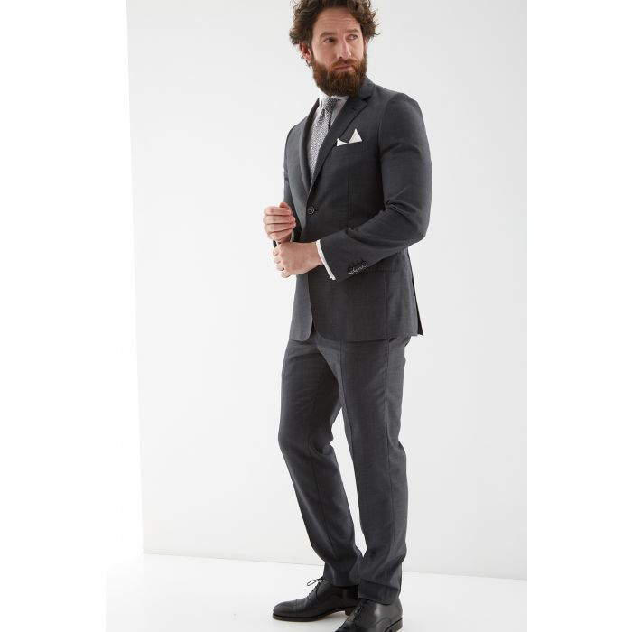 Image for Mens grey pue wool slim fit suit