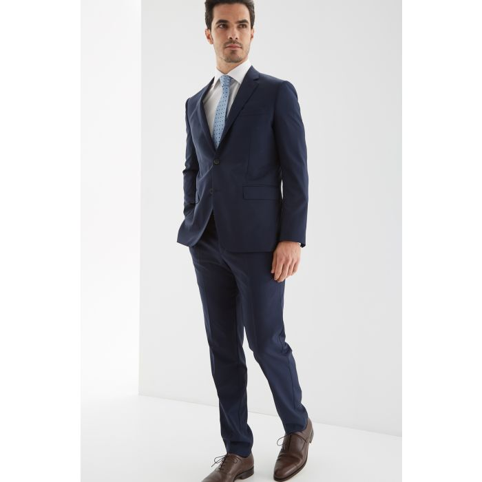 Image for Mens blue pure wool slim fit classic plain suit
