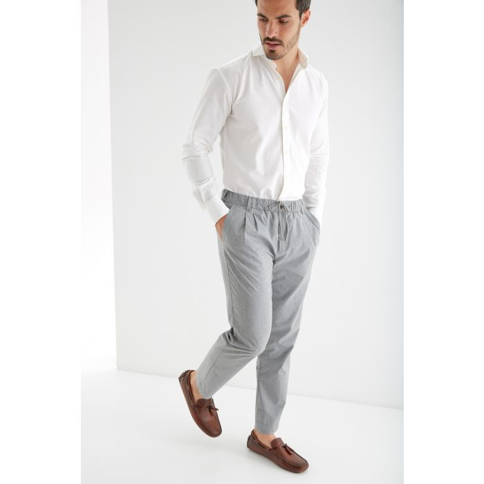 Image for Mens grey wool sports trousers