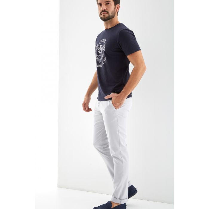 Image for Mens grey chino trousers