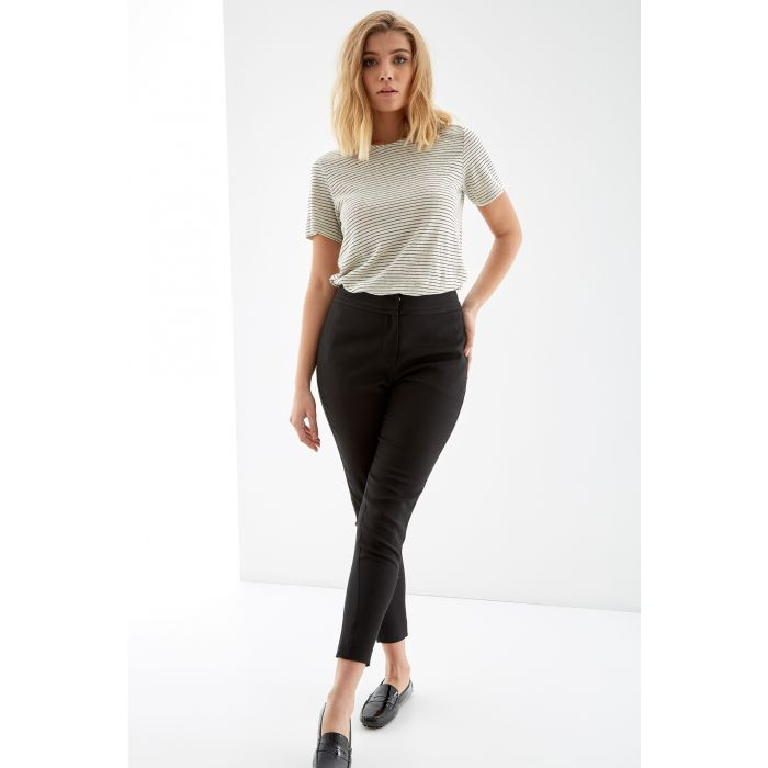 Image for Womens black cigarette trousers