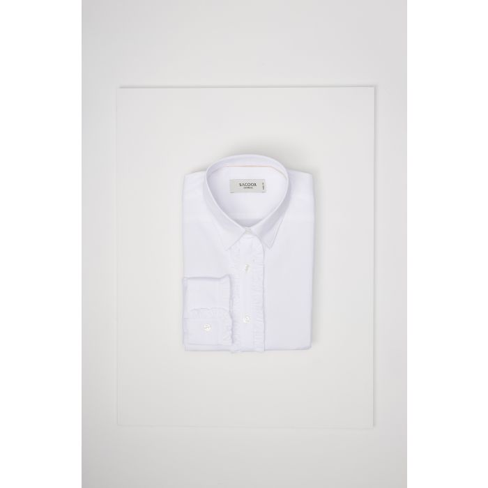 Image for Womens white frill classic shirt