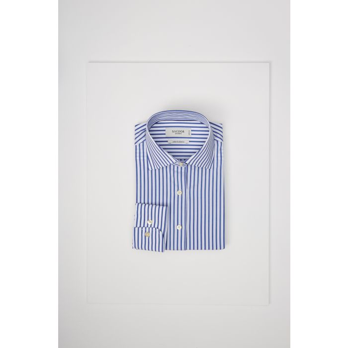 Image for Womens multi-coloured striped slim fit classic shirt
