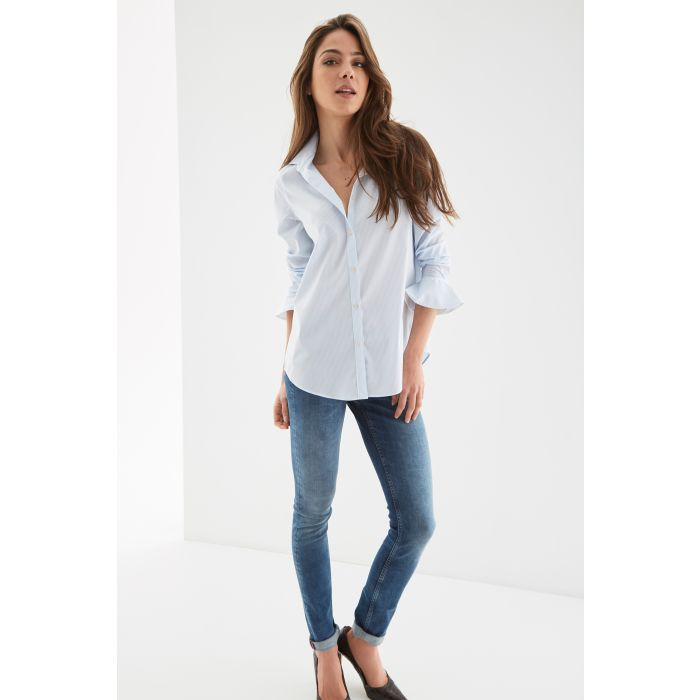 Image for Womens multi-coloured striped casual shirt