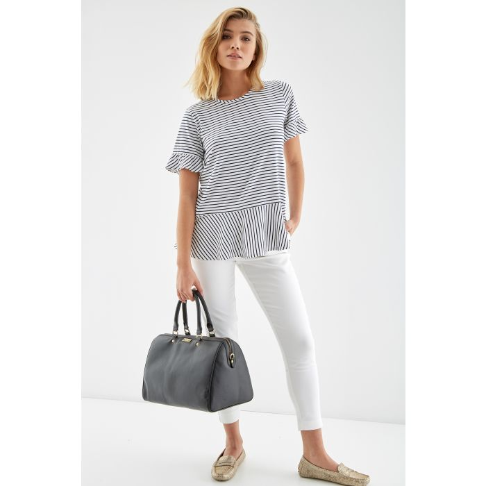Image for Womens Short Sleeve Striped T-shirt