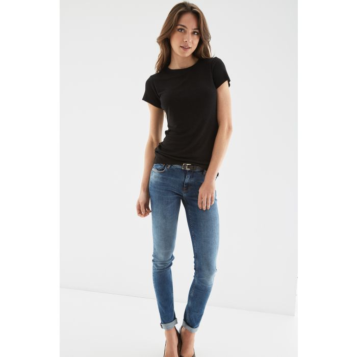 Image for Womens black short sleeve top