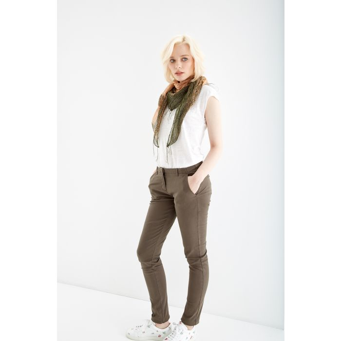 Image for Womens khaki chino trousers