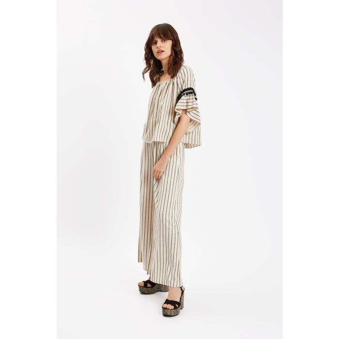Image for Nervous Sailor Wide Leg Trousers in White