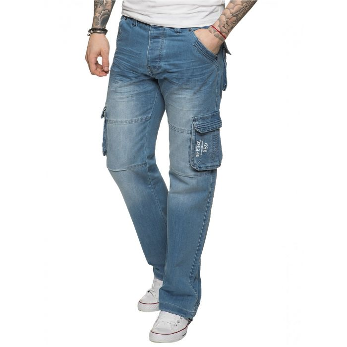 Image for Mens Combat Denim Jeans | Enzo Designer Menswear
