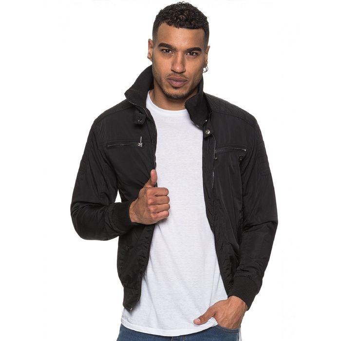 Image for ETO | Men's Designer Black Biker Style Jacket