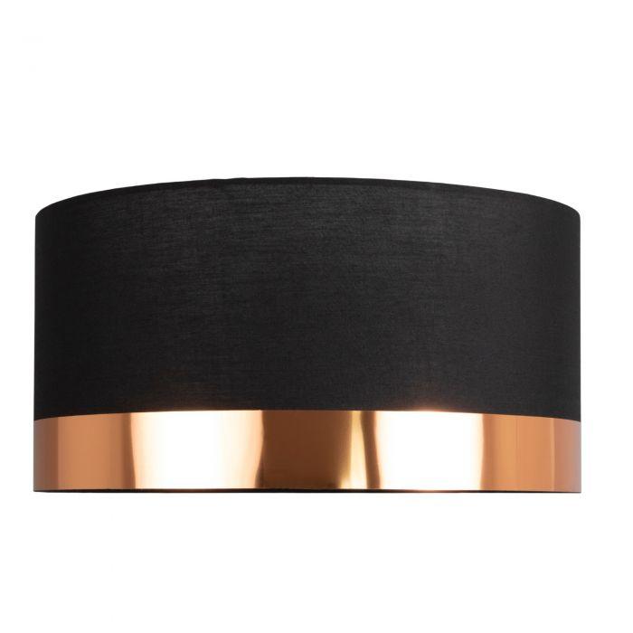 Image for Nela Black and Copper 40cm Pendant Ceiling Light Shade