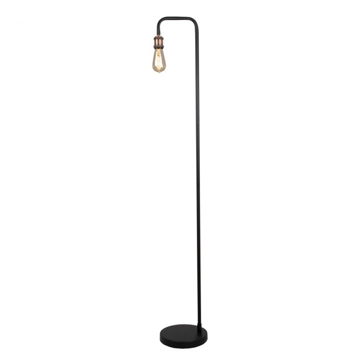 Image for Clark Matt Black and Copper 145cm Floor Lamp