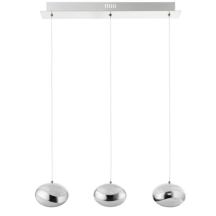 Image for Tarvi Cool White LED 3 Light Polished Chrome Ceiling Light Bar