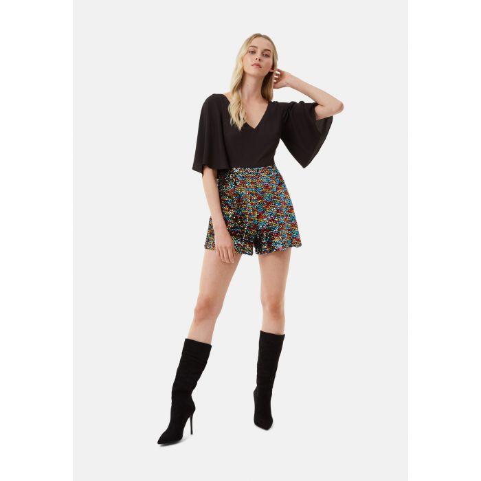 Image for Short Sleeve Sequin Embelished Dory Playsuit in Black