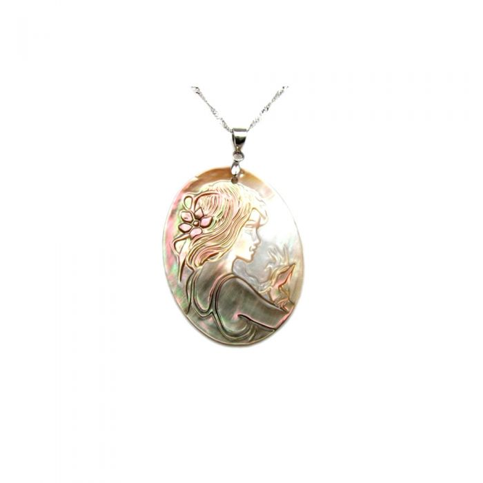Image for Cameo Mother of Pearl Pendant and Silver Mounting
