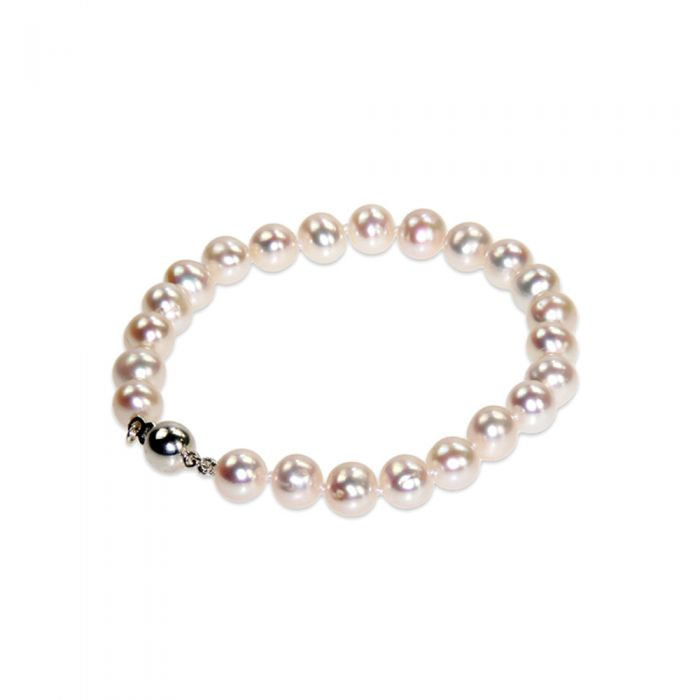 Image for White Freshwater Pearl Bracelet and 925 Silver Clasp