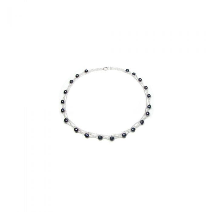 Image for Smaller and bigger Freshwater Pearl Twisted Necklace and Silver Clasp