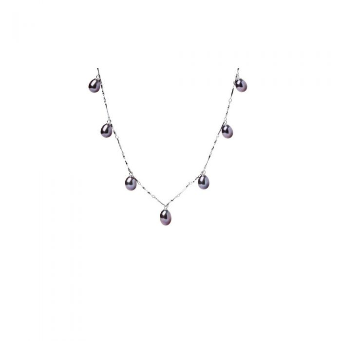 Image for 7 dangling Freshwater Pearls Women Choker Necklace and 925/1000 Silver