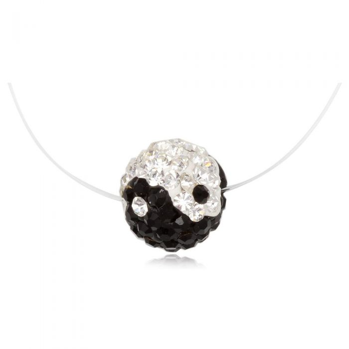 Image for Yin Yang Invisible Nylon Necklace and Silver