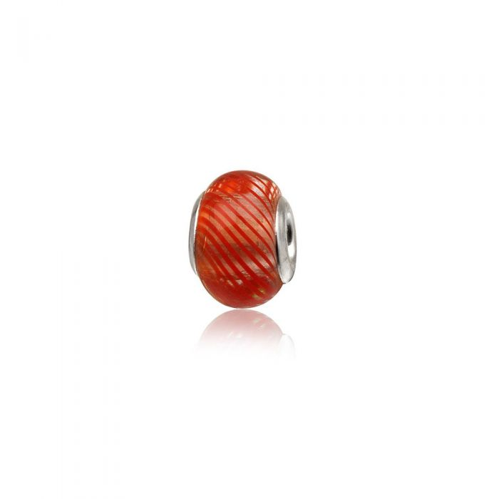 Image for Red Murano Glass Charms Bead and 925 Silver