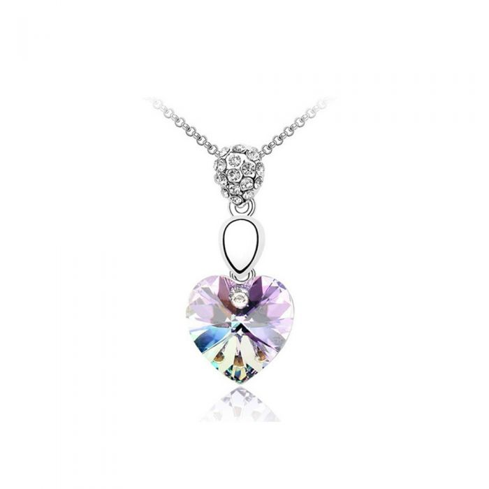 Image for Heart Pendant made with a Purple Crystal from Swarovski