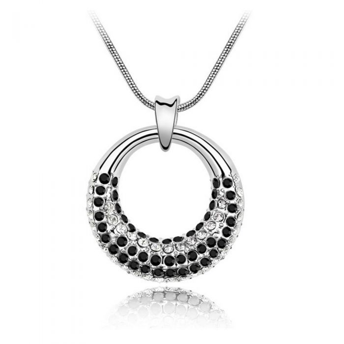 Image for Swarovski - Pendant made with a Black Crystal from Swarovski