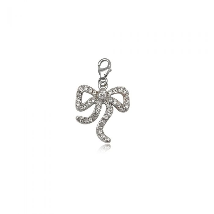 Image for 925 Silver and white crystal Beautiful knew Charm