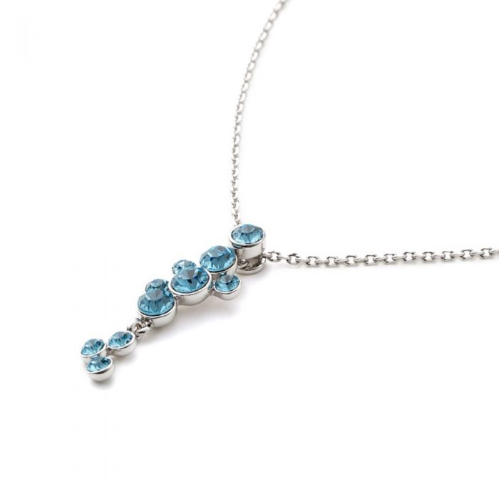 Image for Swarovski - Waterfall Necklace made with Blue Swarovski Crystal Elements