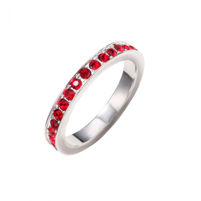 Image for Red Swarovski crystals ring