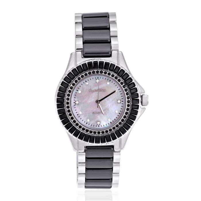 Image for Swarovski - Ceramic watch with black Swarovski Crystal Elements
