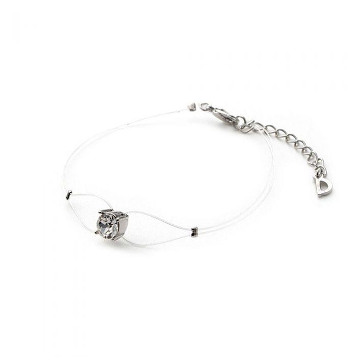 Image for White Invisible Nylon Bracelet and Swarovski Crystal Elements White