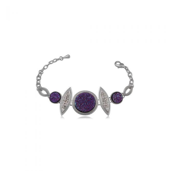Image for Purple Crystal Druzy Bracelet