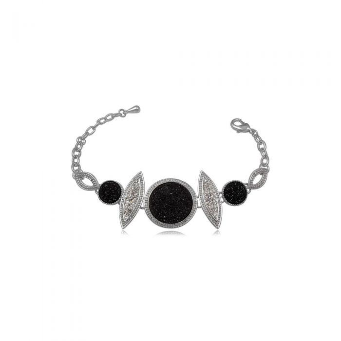 Image for Black Druzy Crystal Bracelet